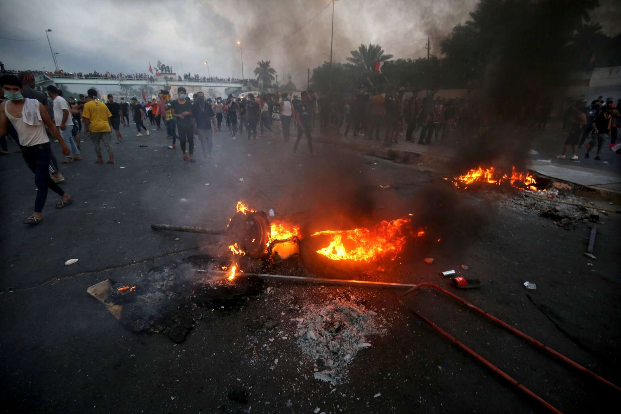 Photos: Curfews and internet blockages as death toll from protests mounts inIraq
