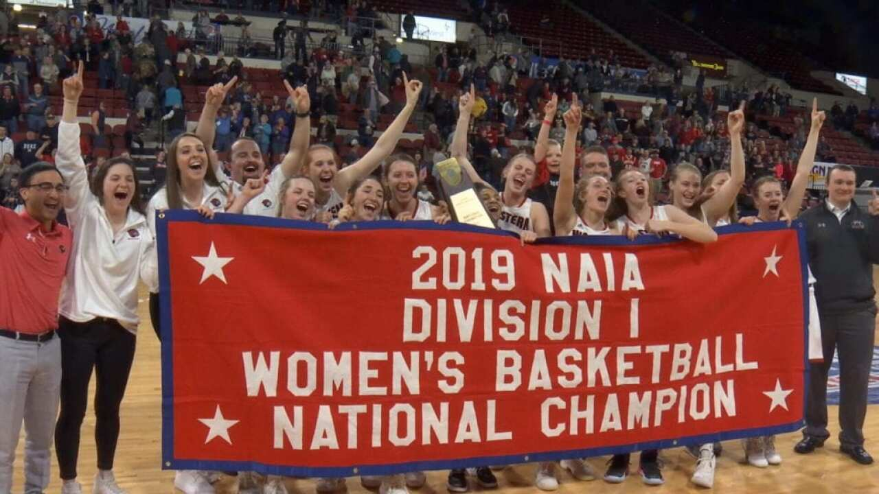 Who let the dogs out? Montana Western women blast OKC for 1st NAIA title