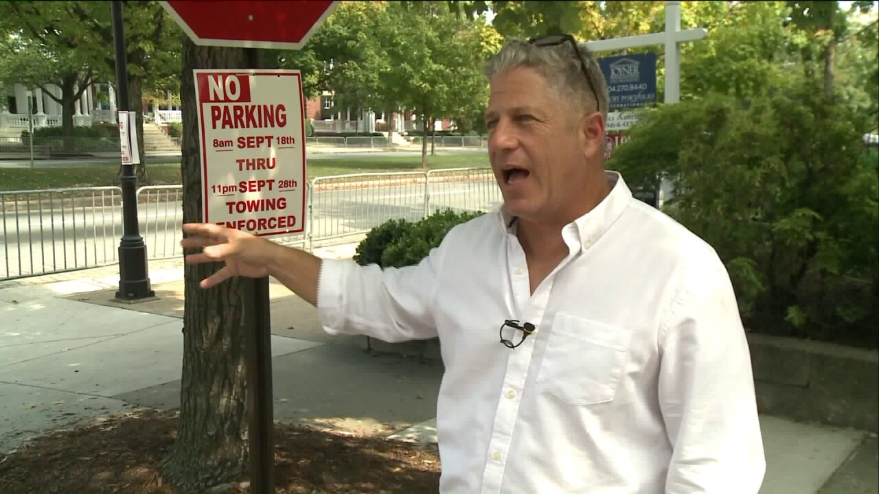 Residents said no warning given ahead of UCI race 'no parking'signs