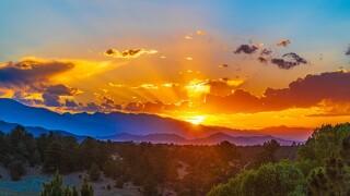Sunset near Westcliffe, Colorado