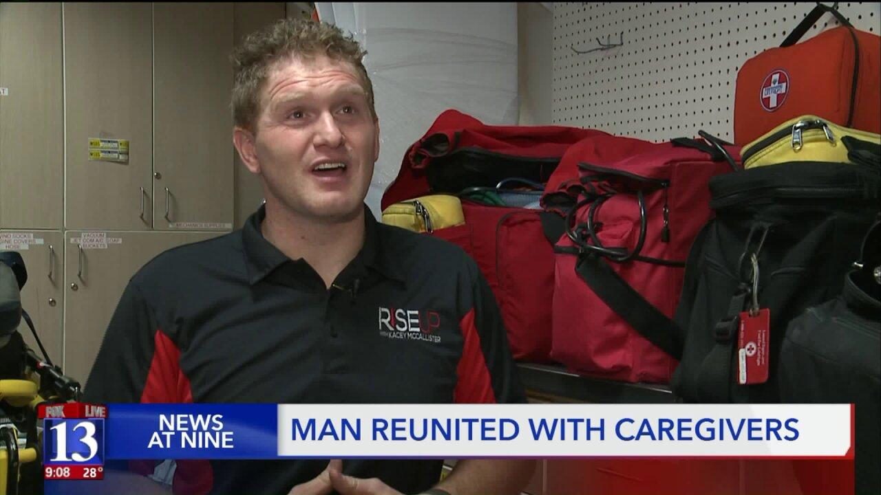 Accident victim reunites with Utah hospital staff 26 years after losinglegs