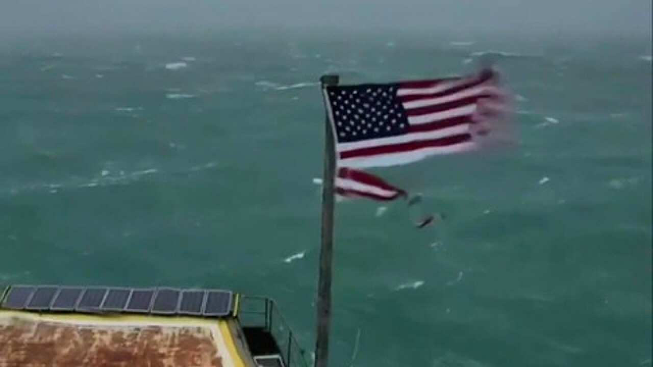 Flag that survived Florence sells for $10K