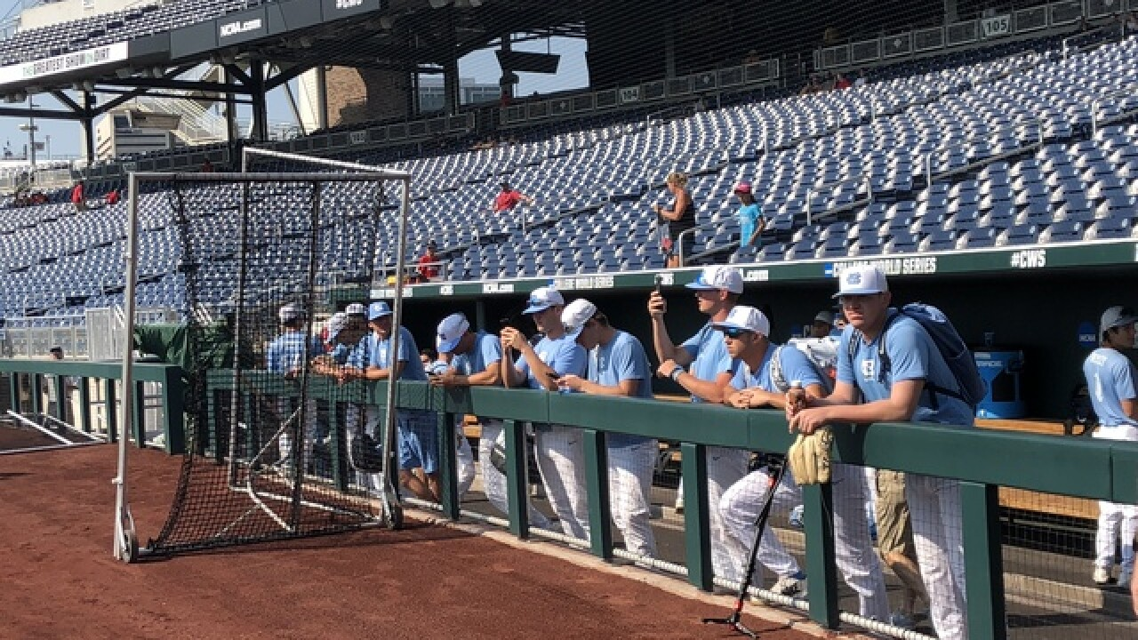 College World Series: North Carolina downs Oregon State in CWS opener
