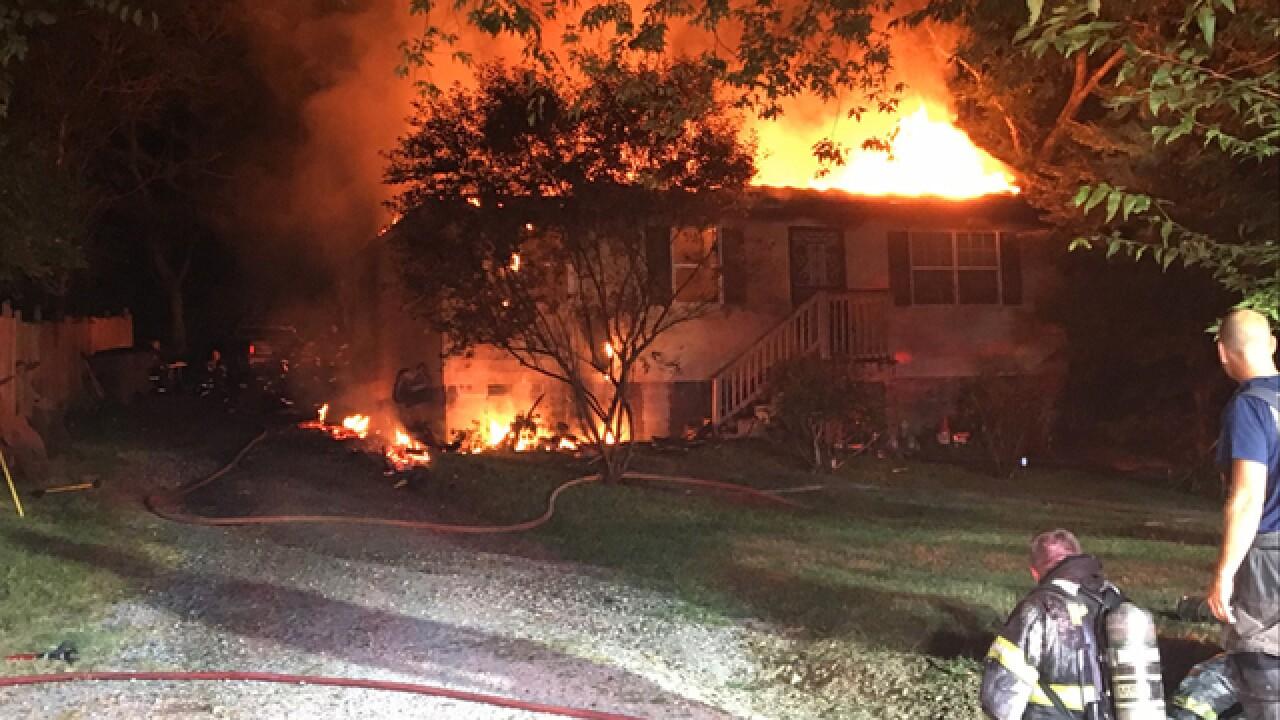 Large Fire Destroys Home In Bellevue