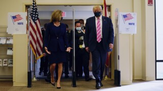 President Donald Trump casts his ballot early and in-person in Florida