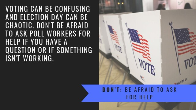 Voting guide: What you should do (and not do) as you prepare to head to the polls