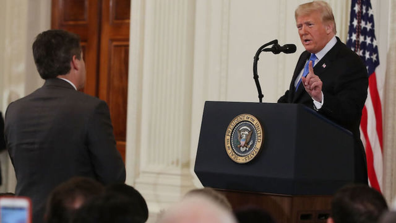 Did the White House doctor video of news reporter Jim Acosta confronting President Trump?