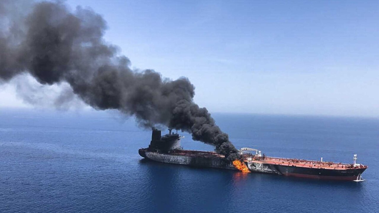 US releases video it claims shows Iran removing unexploded mine from Gulf tanker