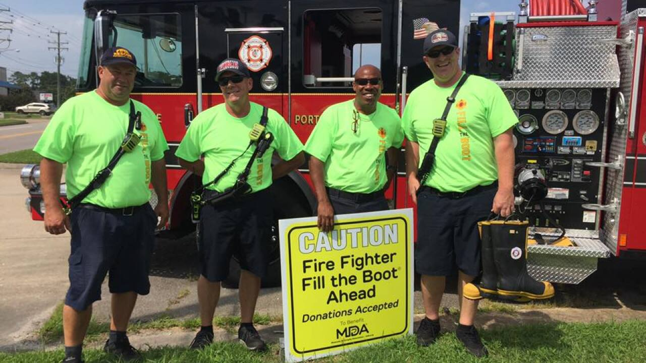 Local firefighters 'Fill the Boot' for muscular dystrophy awareness