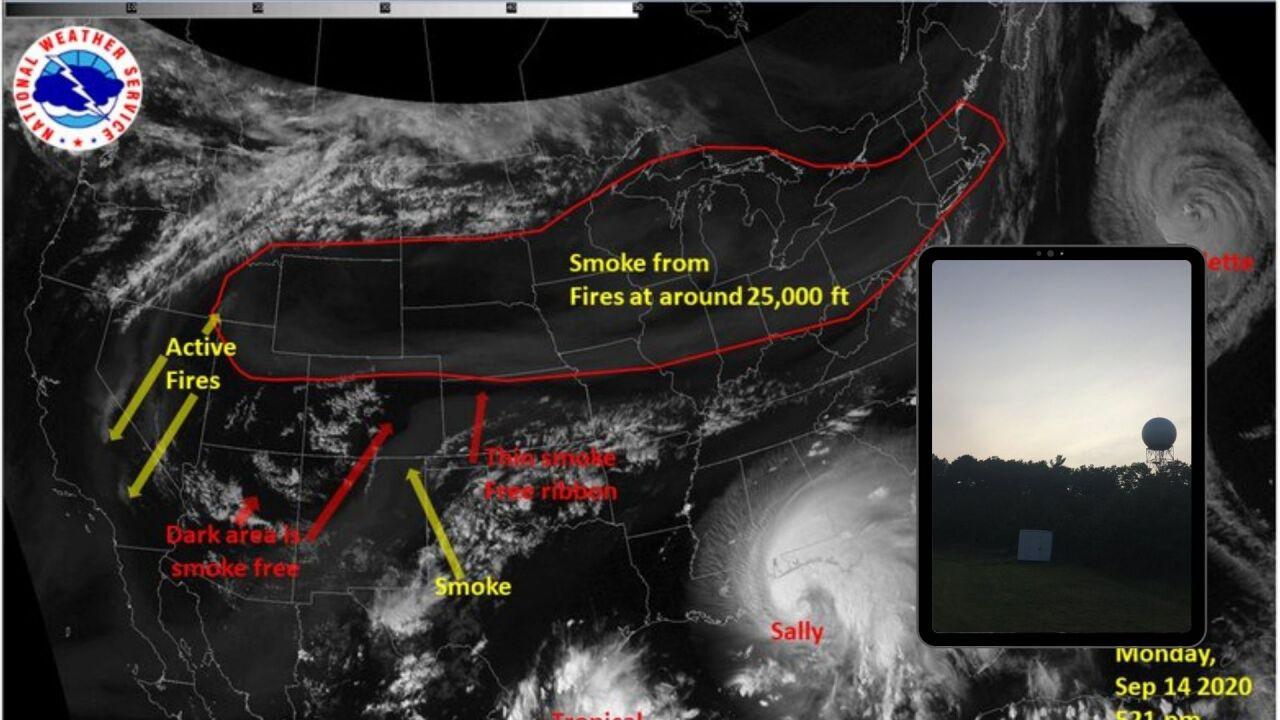 wildfire smoke in new york