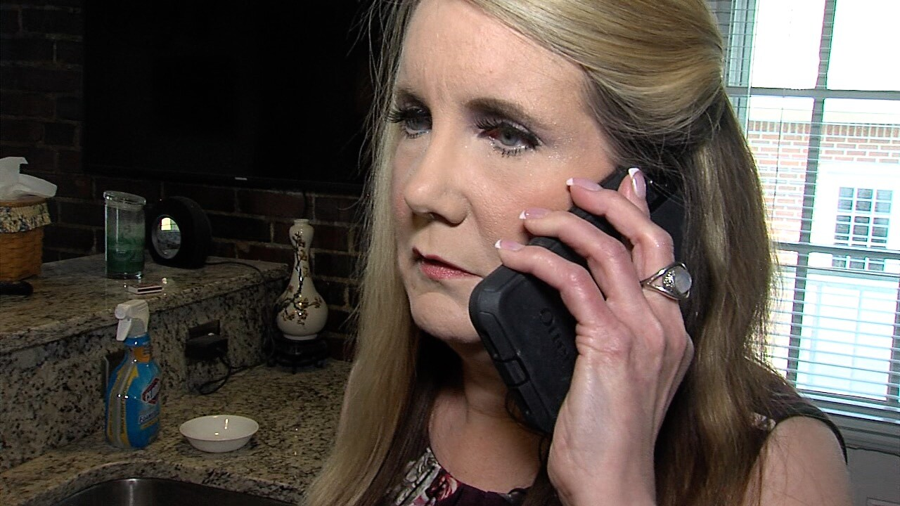 Jackie Burns of Lawrence nearly gave $750 to a utility phone scammer.