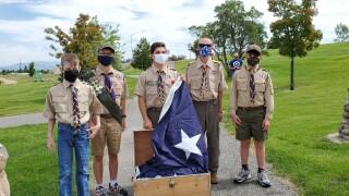 Old Glory Landmark Boy Scout Flag Raising