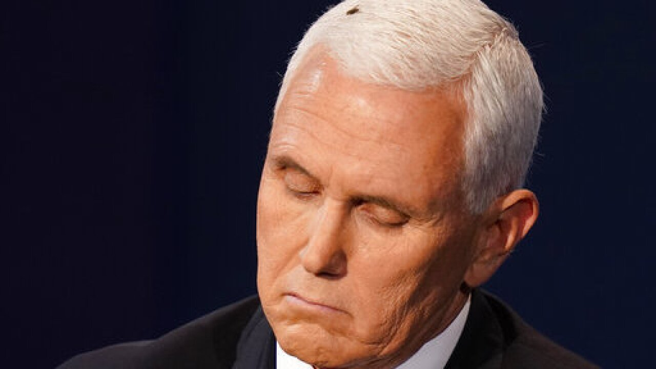 Fly lands on Pence's head, distracting internet