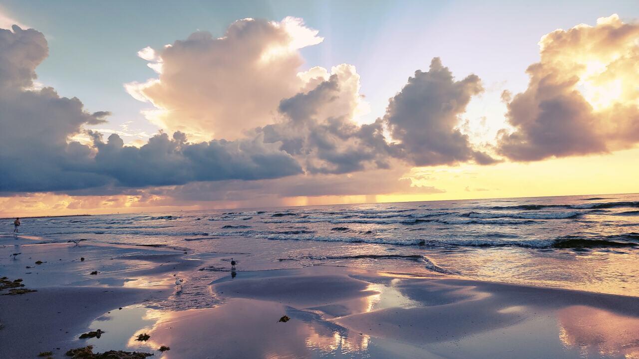 Whitecap Beach Sunrise - Photo By: FB Coastal Bend Weather Watcher Mari C Rivera