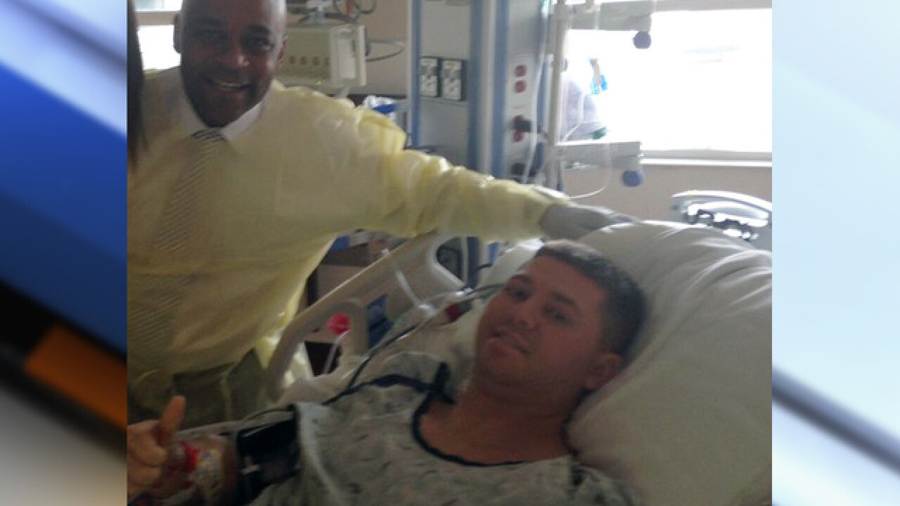 Wounded DPD officer's family says he's strong