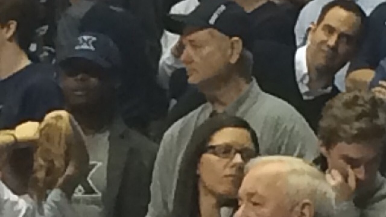 Bill Murray, are you coming to the Xavier game?