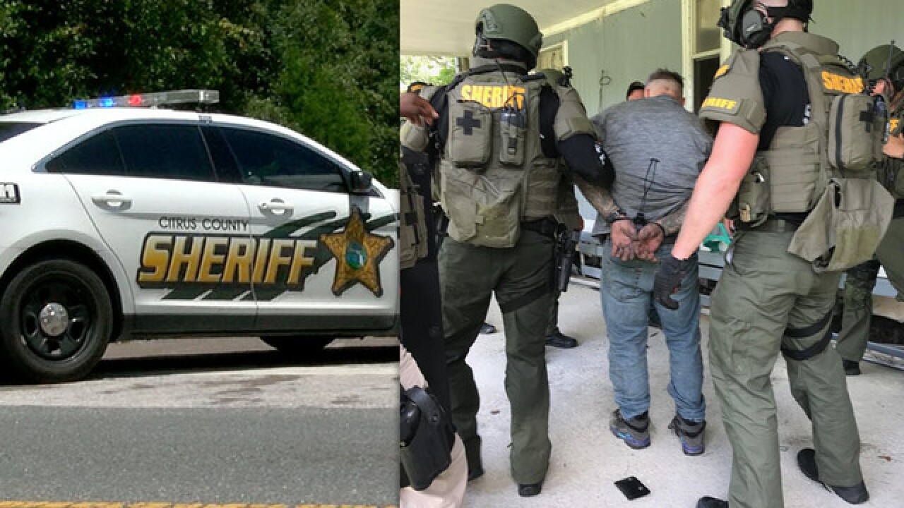 Deputies arrest armed subject hiding under trailer after