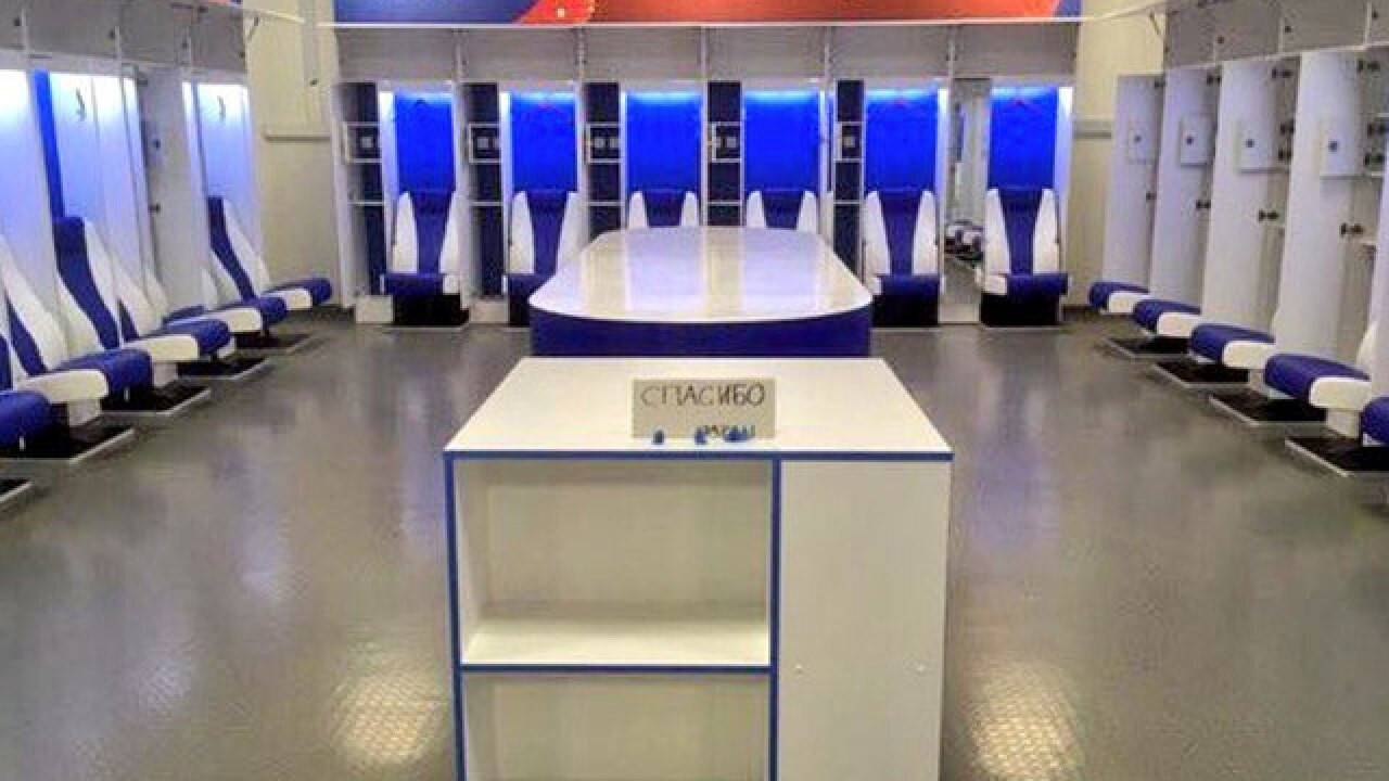Japan's World Cup team leaves behind a spotlessly clean locker room and 'thank you' note