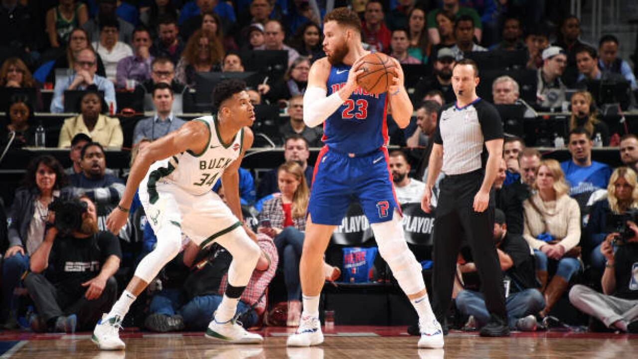 Blake Griffin's return not enough as Pistons lose Game 3 to Bucks