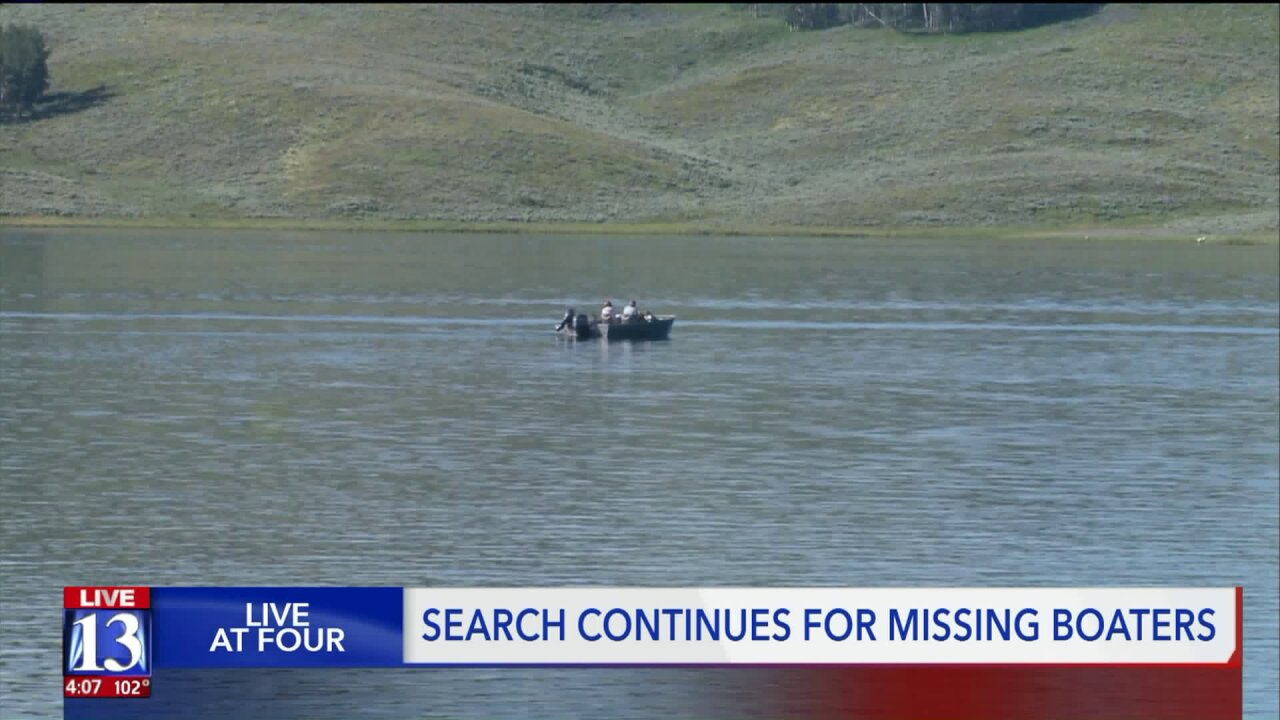Boaters still missing; search efforts scale back at StrawberryReservoir