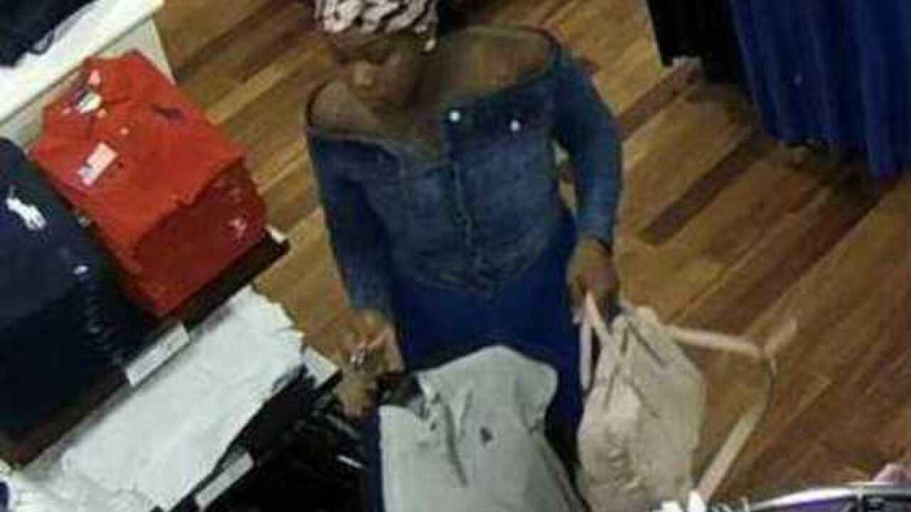 Pair sought in clothing store theft at outlets