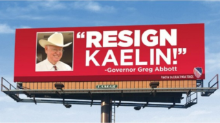 Local billboard to echo the call for Nueces co. Republican chairman Jim Kaelin's resignation
