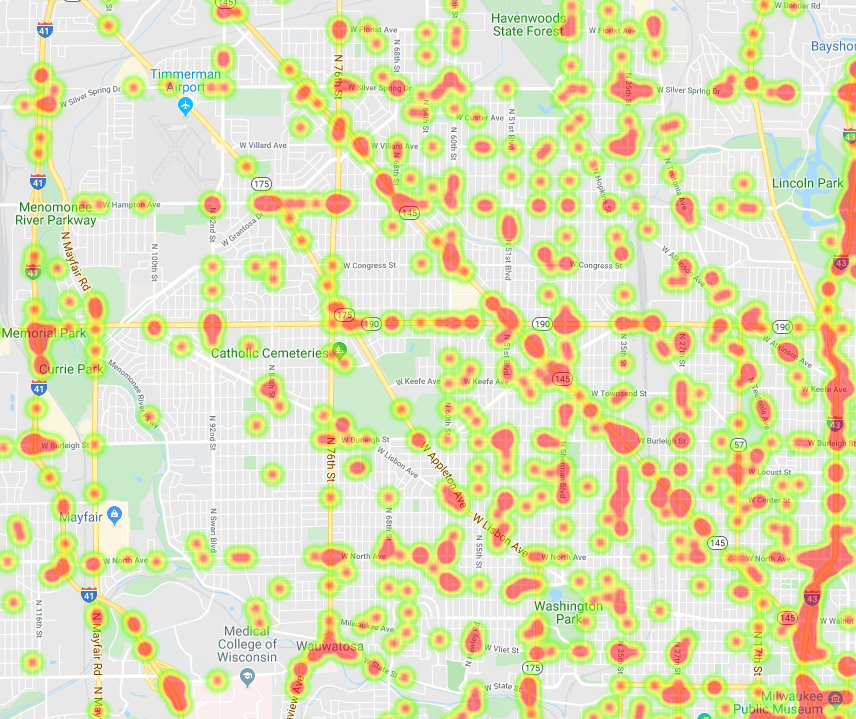 Heat Map of Drunk Driving