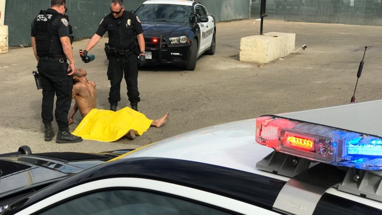Man leads Visalia police on chase while naked