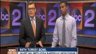 2013 Turkey Bowl: Loyola Blakefield studio interviews