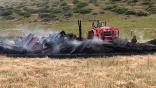 Crews tackle illegal burn near Great Falls