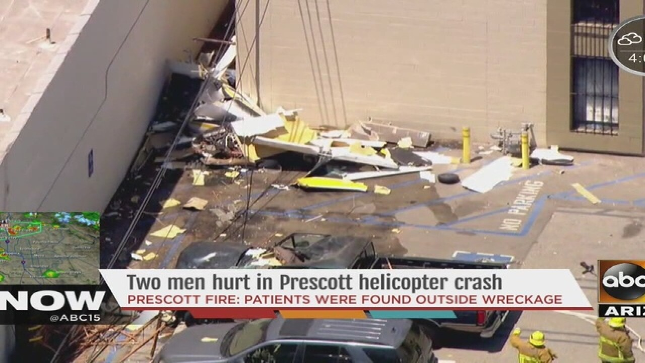 FAA: Helicopter rolls over at Prescott airport
