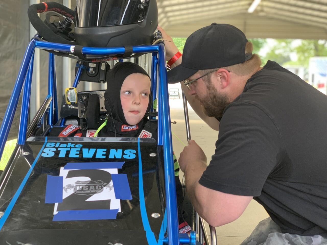 Young racer Blake Stevens