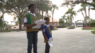 Two young brothers are celebrating Black History Month by following the footsteps of Dr. Martin Luther King, Jr.