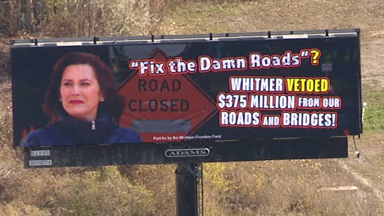 Conservative group launches billboards aimed at Whitmer budget veto