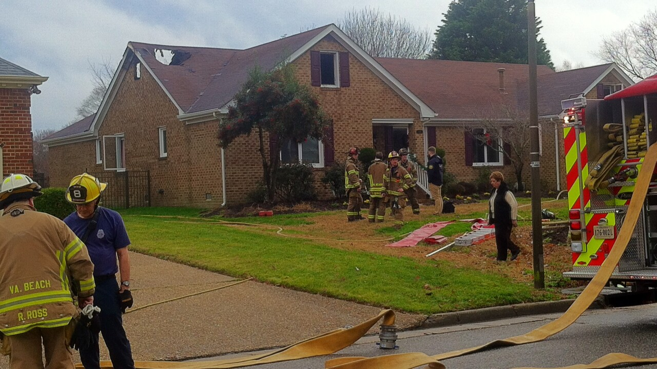 Virginia Beach home damaged by early morning fire
