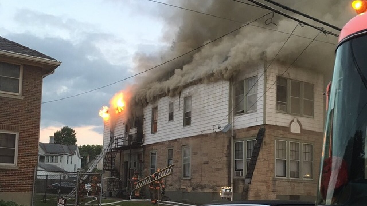 Norwood apartment complex goes up in flames