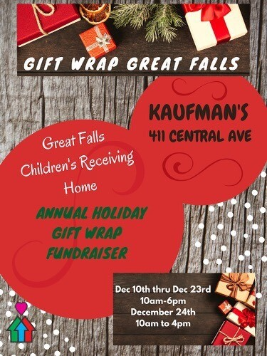 Children's Receiving Home is conducting its annual gift-wrapping fundraiser