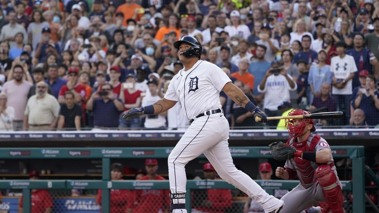 Miguel Cabrera Angels Tigers Baseball