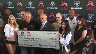 Raiders Foundation donates to Veterans Village