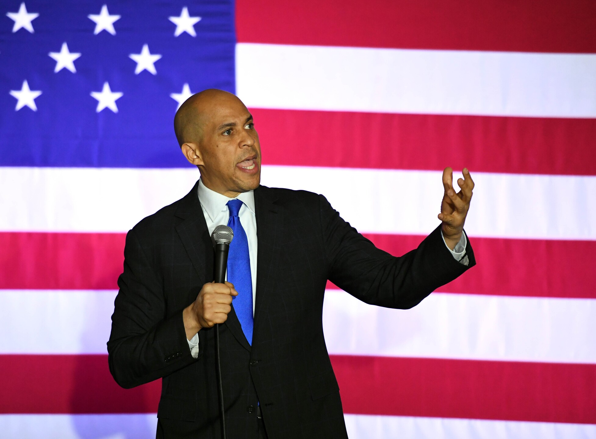 Cory Booker in Wisconsin Tuesday.