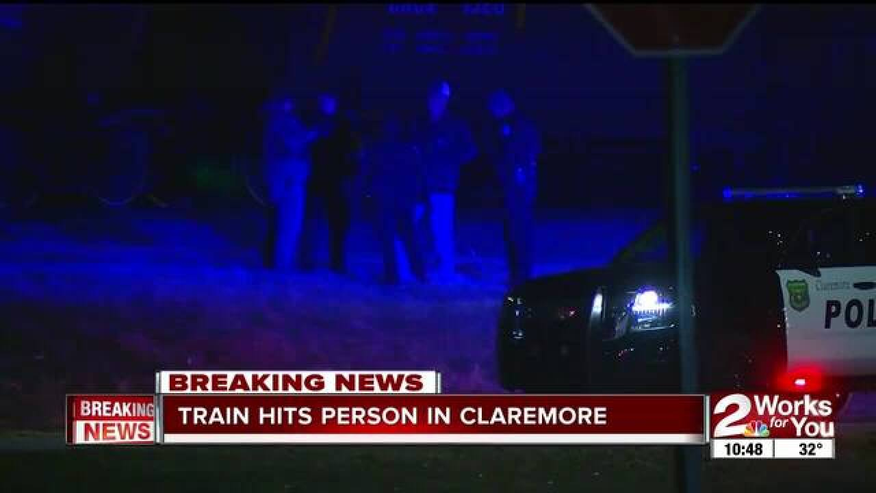 Claremore PD: Pedestrian struck by train