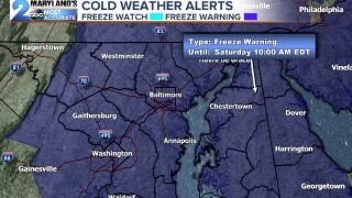 Freeze Warnings Issued