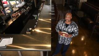Mike Johnson, owner of Southern Spice & Majestic Ash Lounge who played for Bruce Arians at Temple
