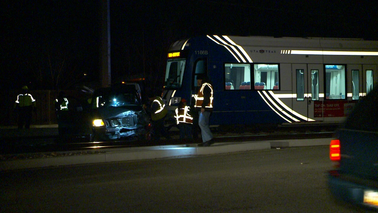 2 seriously injured after TRAX train, truck collide in West Valley City