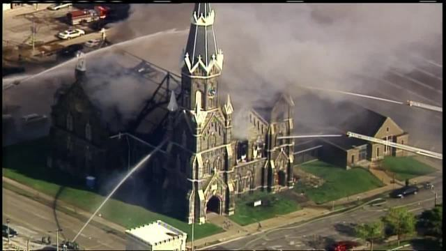 Milwaukee's historic Trinity Evangelical Lutheran Church burns down