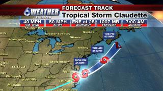 6WEATHER Tropical Storm Claudette Track