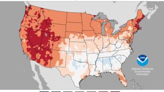 June 2021 US Average Temperature Percentiles Map