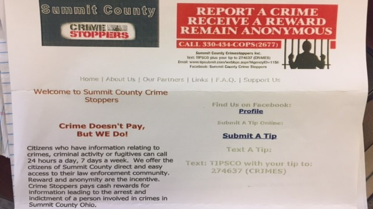 Most Summit County Crimestoppers tips come through text messages