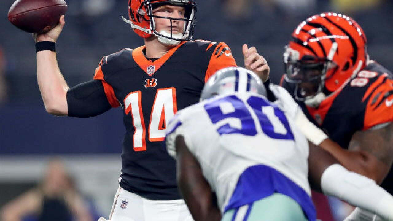 Bengals' first-team offense goes backward against Cowboys