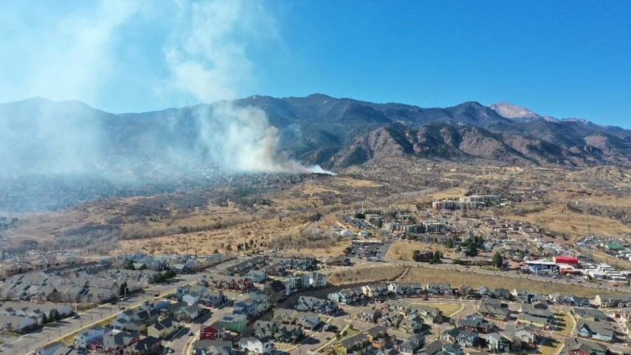 Bear Creek Fire in Colorado Springs
